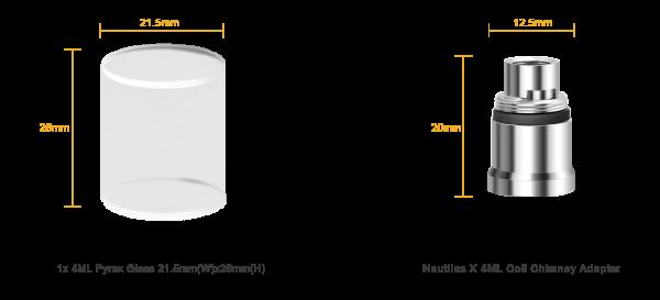 Aspire Nautilus X Tankverlängerung und Ersatzglas