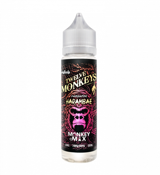 12 Monkeys Harambae 50ml Shortfill