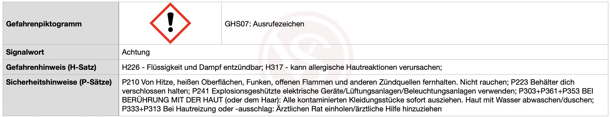 Achtung-H226-H317