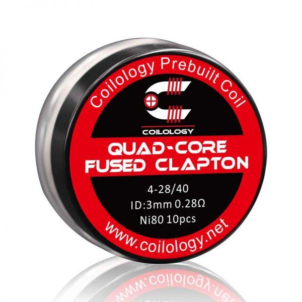Coilology - Quad Core Fused Clapton Coils - 10 Stück