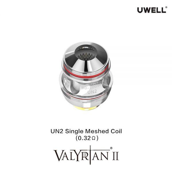 Uwell Valyrian 2 Verdampferköpfe - single Meshed 0.32Ohm