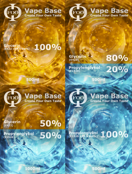 Foo Vape Base 1 Liter Flasche - Wähle Deine Mischung