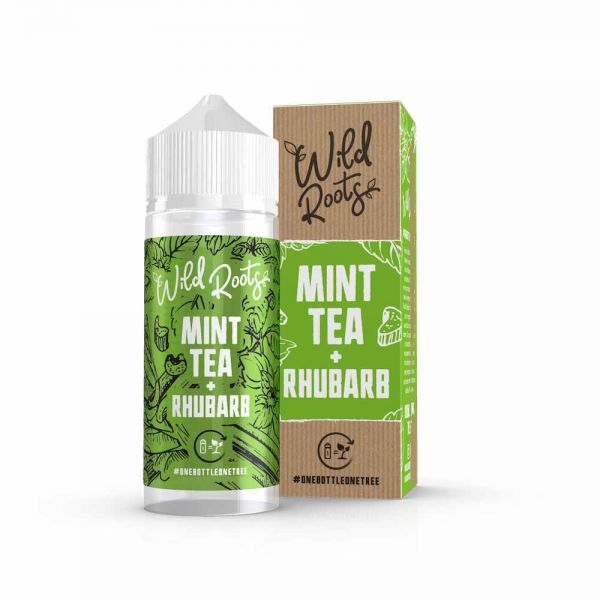 Wild Roots E-Liquid - Mint Tea + Rhubarb - 100ml Shortfill