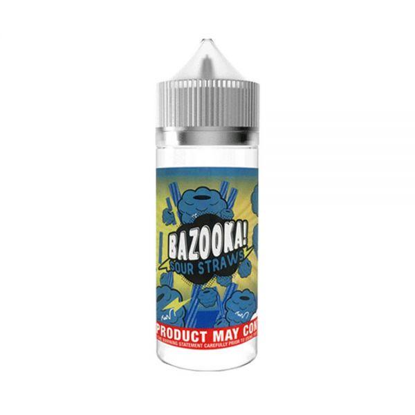 Bazooka Blue Raspberry Sour Straws - 100ml Shortfill