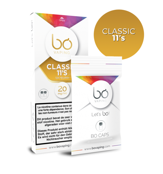 bo Caps Classic 11's - (Gold Tobacco) - 20mg Nicsalt
