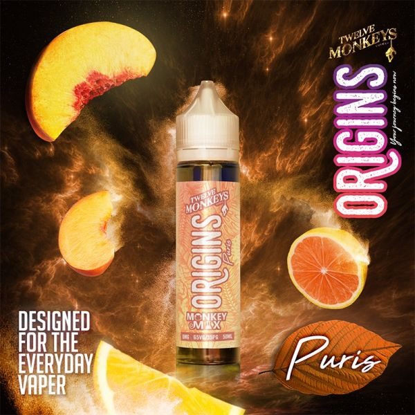 12 Monkeys Origins Puris - 50ml Shortfill