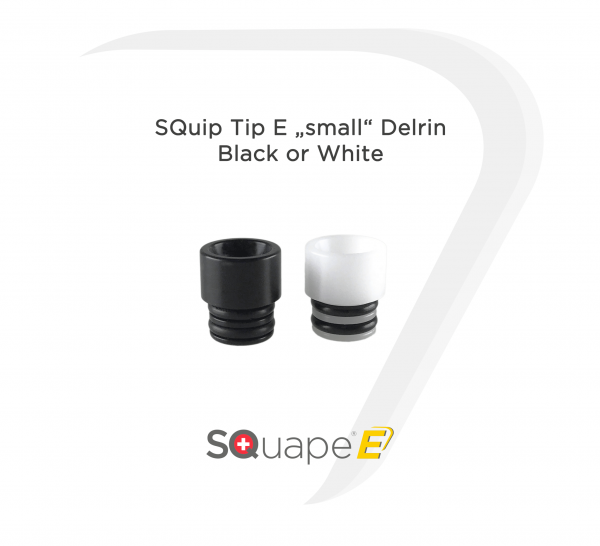 "SQuip Tip E ""small"" Delrin Black or White"
