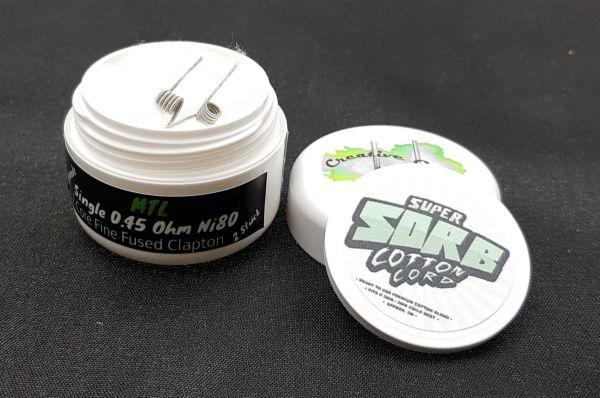Creative Coils - MTL Fine Fused Clapton NI80 - 0.45Ohm